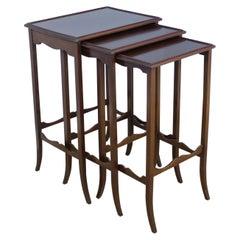 Nest of 3 English Mahogany Tables