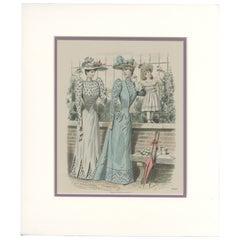 Pl. 2698 Vintage Fashion Print. 'c.1900'