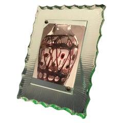 Fontana Arte Frame Glass Brass 1940, Italy