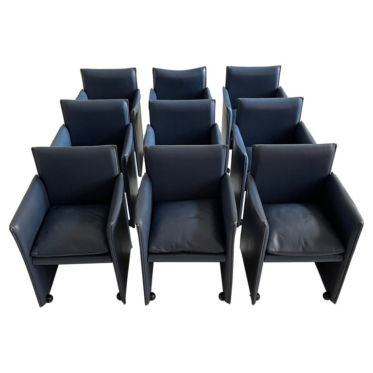 Mario Bellini Breaker Armchair by Cassina 1970s, Set of 9 For Sale