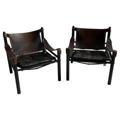 Arne Norell Sirocco Safari Chairs Set of Two, Sweden 1960s