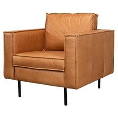 Modern Leather Club Chair