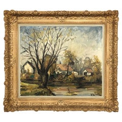 Framed Oil Painting on Canvas by Nelly Windels