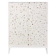 Milano Terrazzo 2-Door Bar Cabinet by Ercole Home