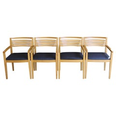 Four Dining Chairs by Joseph and Linda Ricchio for Knoll, Inc.