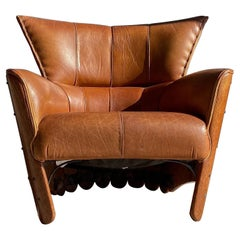 Pacific Green Moorea Leather Lounge Chair