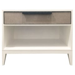 Milano 1-Drawer Leather Nightstand by Ercole Home