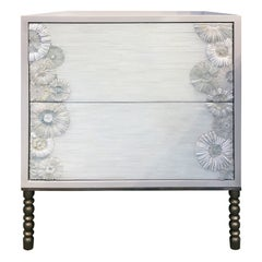 Blossom 2-Drawer Nightstand with Vintage Style Base by Ercole Home