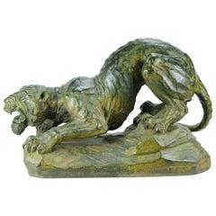 Tiger Sculpture in Bronze