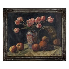 Framed Oil Painting on Board by Joseph Lagasse