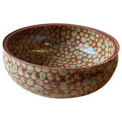 Hand-Thrown Fall Dots Stoneware Soup Bowl