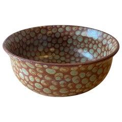 Fall Dots Hand-Thrown Stoneware Soup Bowl