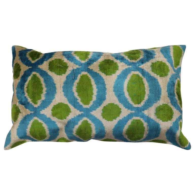 Silk Ikat Pillow For Sale