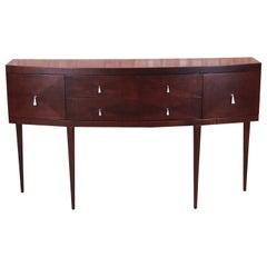 Baker Furniture Elegant Modern Regency Sideboard Credenza, Newly Refinished