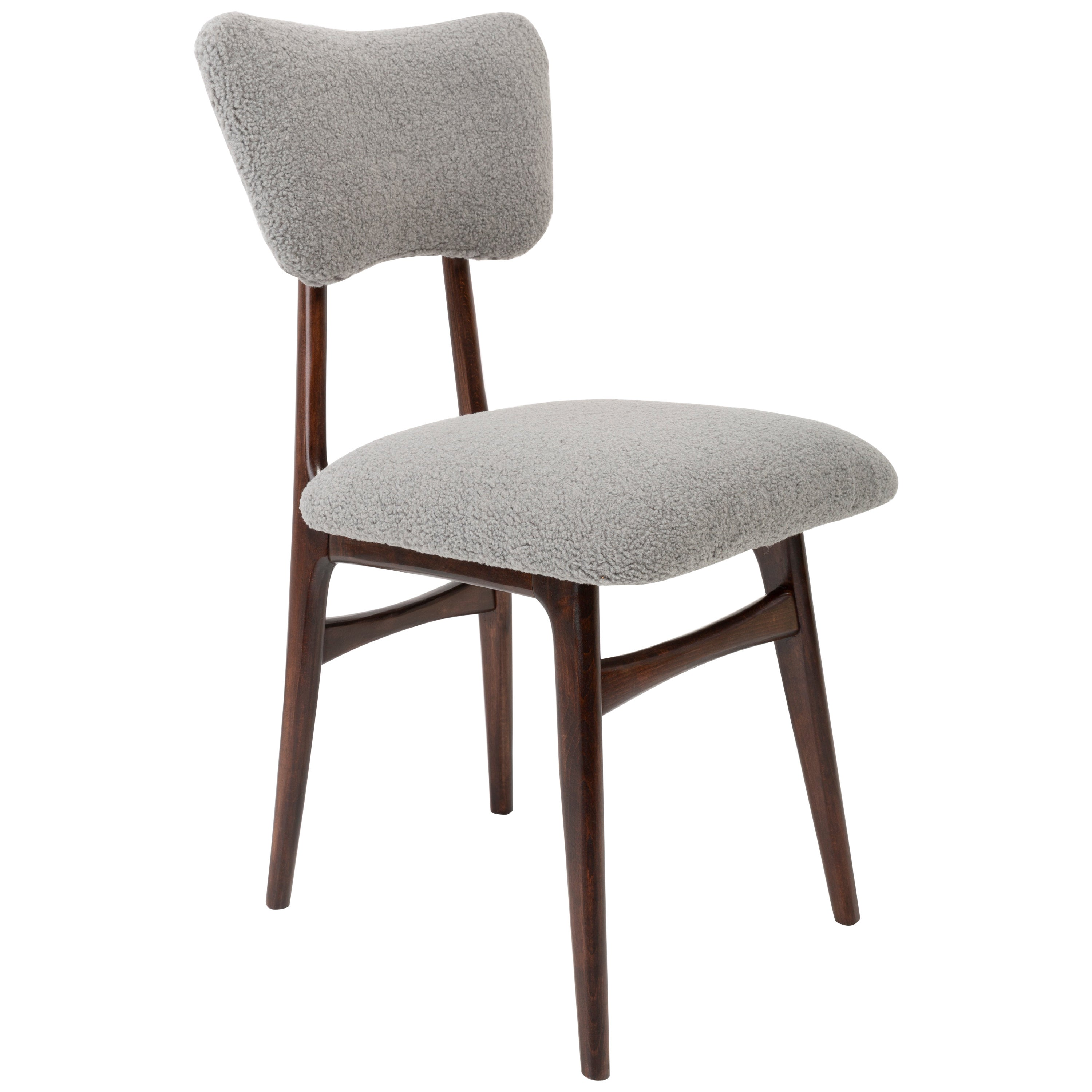 20th Century Gray Boucle Chair, 1960s