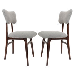 Two 20th Century Gray Boucle Chairs, 1960s
