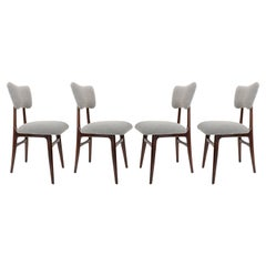 Set of Four 20th Century Gray Boucle Chairs, 1960s
