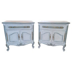 Pair of Painted French Country Nightstands
