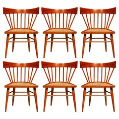 'Yucatan' Dining Chairs by Edmond Spence for Industria Mueblera, 1960s Signed