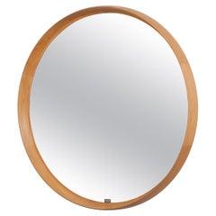 Uno and Osten Kristiansson Large Oak Mirror by Luxus Vittsjö, Sweden, 1960s
