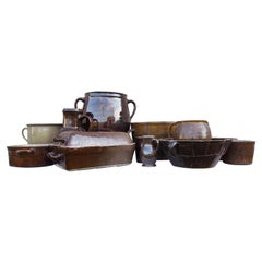 Set of Twelve Earthnware, Czechoslovakia, 1960s