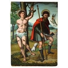 Saint Sebastian and Saint Roche, Antonio Vázquez, circa 1530, Spain
