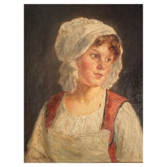 """Vallayer Moutet Pauline """"Portrait of a Young Girl"""""""