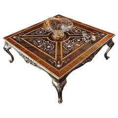 Square Coffee Table Plugged in Mother of Pearl by Modenese Gastone Interiors