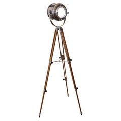 Theater Spotlight Manufactured by Furse on Vintage Tripod, Uk, 1950's