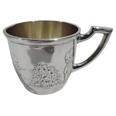 Antique American Art Deco Sterling Silver Baby Cup
