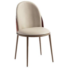 21st Century Carpanese Home Italia Chair with Metal Legs Modern, Georgette