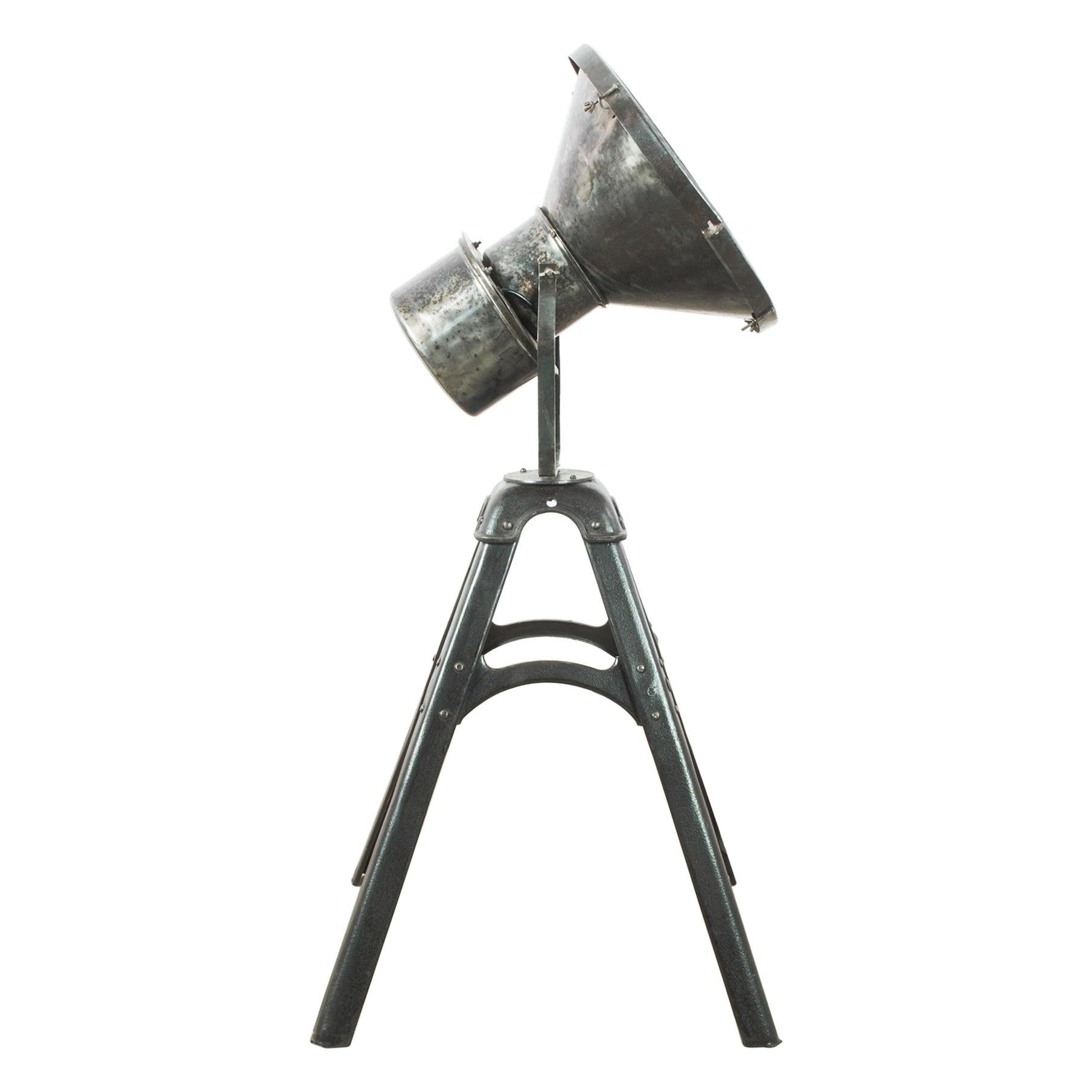 1950s Industrial Metal Floor Lamp