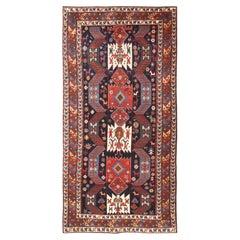 Antique Tribal Caucasian Kazak Rug. Size: 6 ft x 11 ft 9 in (1.83 m x 3.58 m)