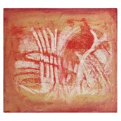 Karen Gibbings, Place, 2007, Monoprint, Chalk on Paper, Mouned on Wood