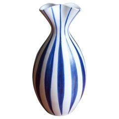 Mette Doller, Vase, Hand Painted Stoneware, Andersson & Johansson Höganäs, 1960s