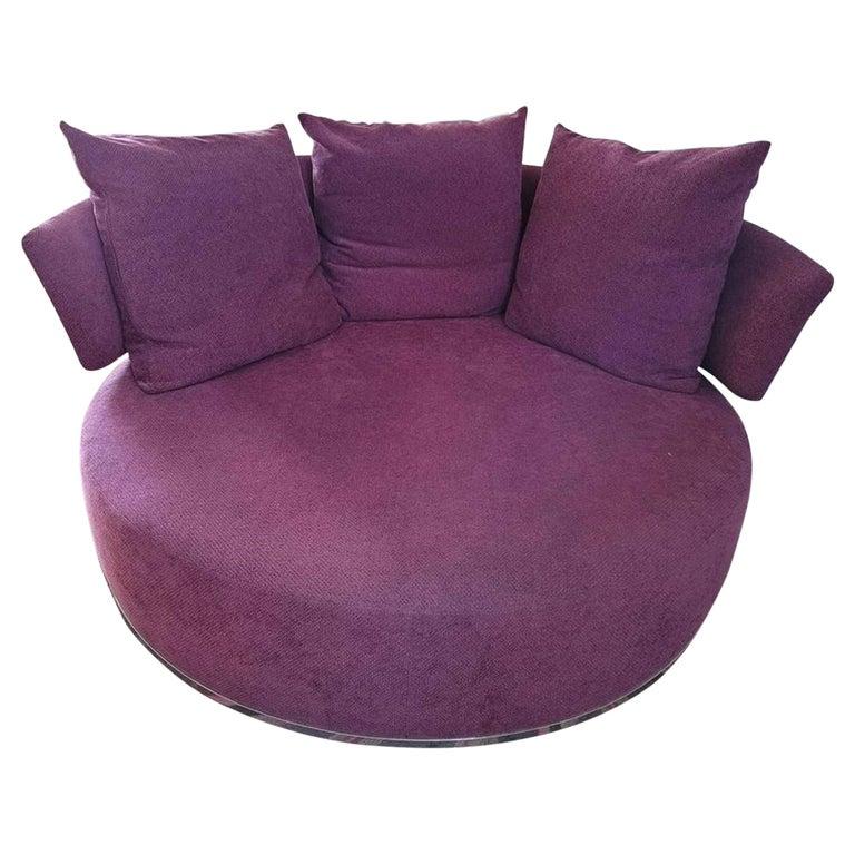Amoenus Circular/Swivel Sofa by Antonio Citterio for B&B Italia, 2 Available For Sale