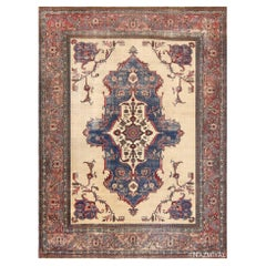 Antique Shabby Chic Persian Khorassan Rug. Size: 10 ft x 13 ft 6 in