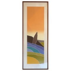 """Hand Signed Limited Edition Serigraph """"Provence"""" by Arthur Secunda"""
