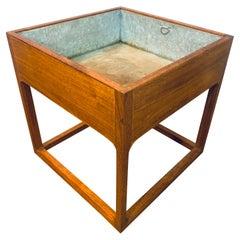 1960s Danish Aksel Kjersgaard for Feldballes Mobelfabrik Teak Cubic Planter