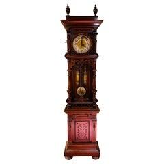 Unique Antique Wilhelminian Style Grandfather Clock, Walnut, 19th Century