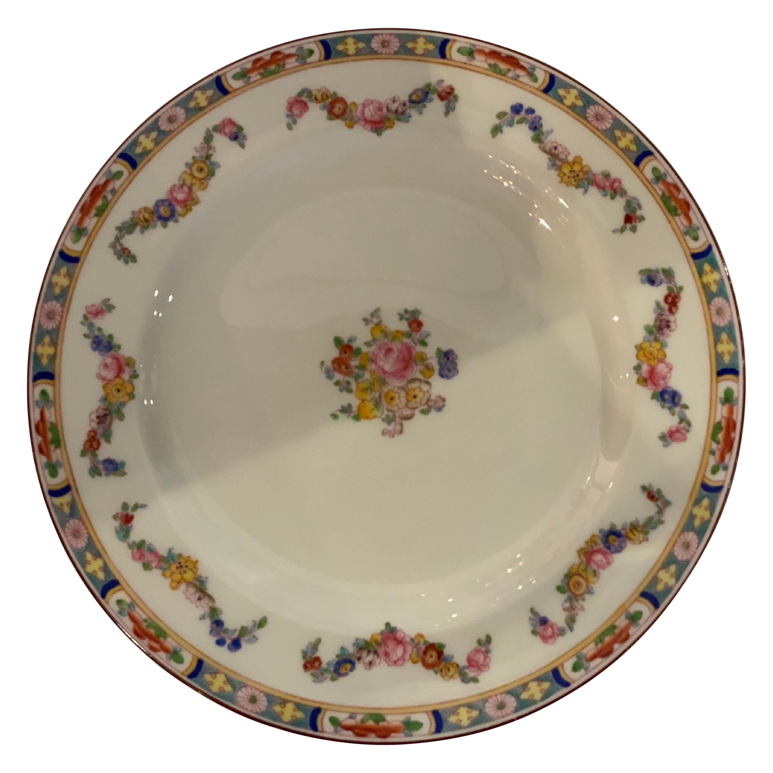 Extremely Large Set of Fine English Minton Rose China, Total of 341 Pieces