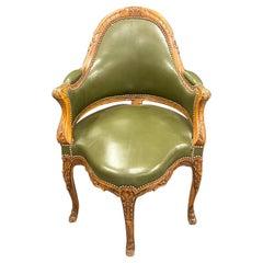 18th/ 19th Century French Bergère de Bureau or Corner Chair