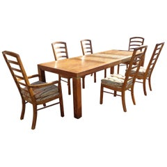 Set Drexel Woodbriar Extendable Dining Table and 6 Chairs