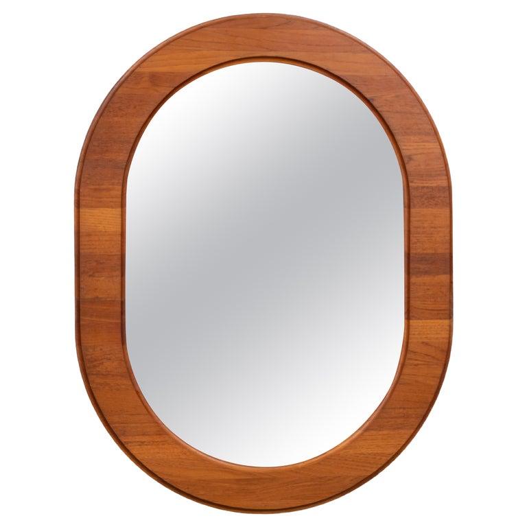 Scandinavian Oval Wall Mirror For Sale