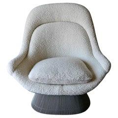 Warren Platner Model 1705 'Easy Chair' for Knoll in Pierre Frey Boucle, ca. 1970