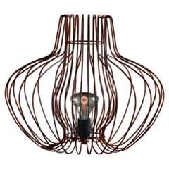Los Angeles, Can Can Suspension Lampshade in Copper Chrome Finish