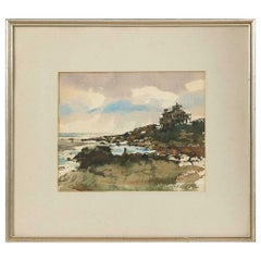 Watercolor Painting by John A. Neff 'Connecticut, 1926-2017'