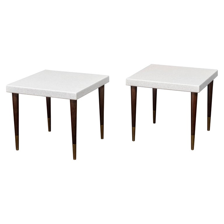 Paul Frankl Cork Side Tables For Sale