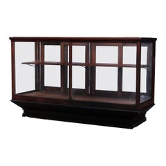 Antique Oak & Glass Country Store Counter Display Case, circa 1900