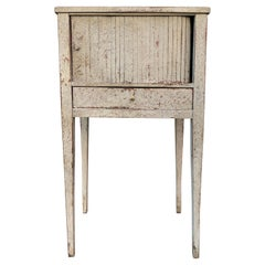 Swedish 18th Century Gustavian Painted Nightstand or End Table